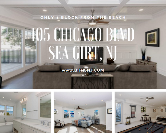 Have you dreamed of living the beach life? You can do it every single day when you live at 105 Chicago Blvd in Sea Girt, NJ. Tons of space to entertain just one block from the ocean.